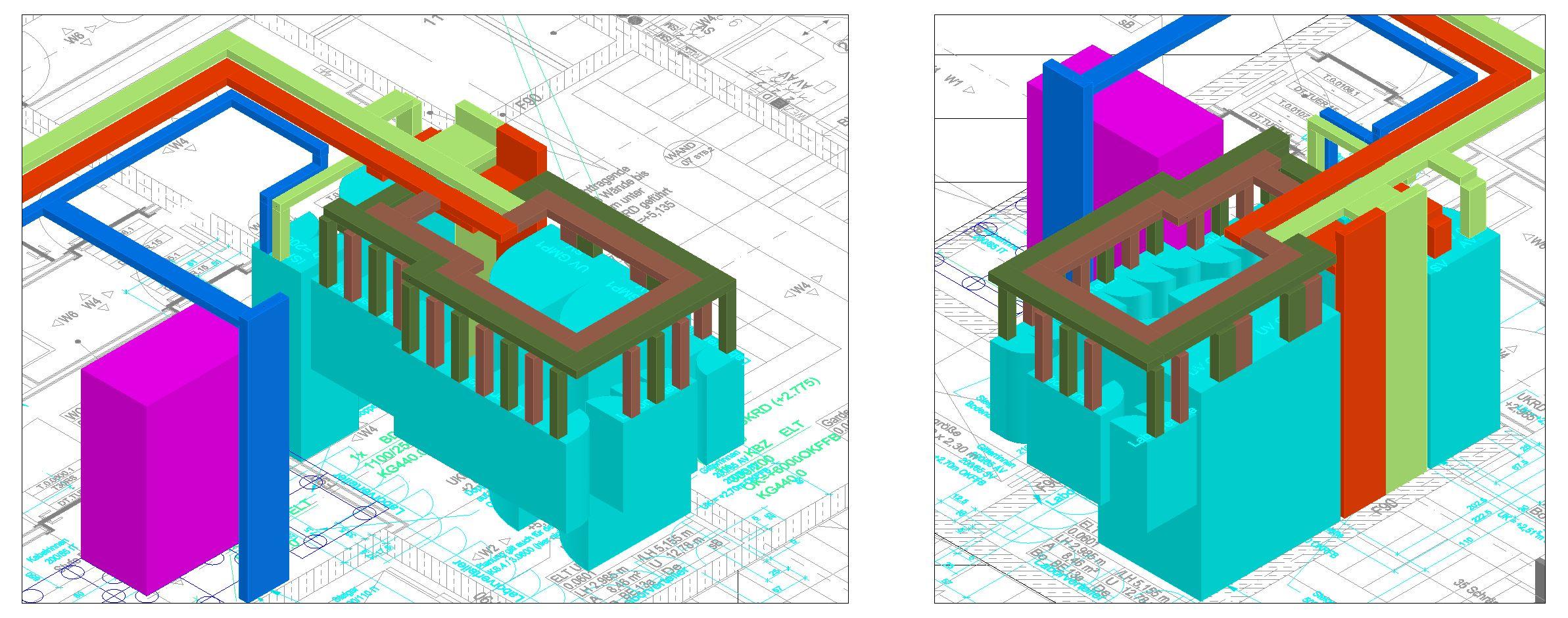 3D-Darstellung Trassen